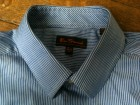 Chemise Ben Sherman bleue fines rayures blanches - Image 1
