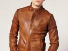 Veste en cuir marron taille xl marque diesel neuve avec etiquettes - Image 2