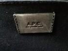 Sac cartable A.P.C. en cuir bleu grisé - Image 3