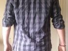 Chemise à carreaux Levi's Noire et bleu-gris - Image 2