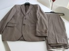 Costume/Devred/veste et pantalon/Taupe rayé beige - Image 1