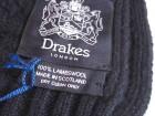 Echarpe Drakes bleu marine