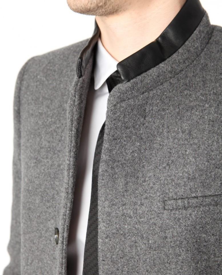 manteau droit the kooples gris homme vendre. Black Bedroom Furniture Sets. Home Design Ideas