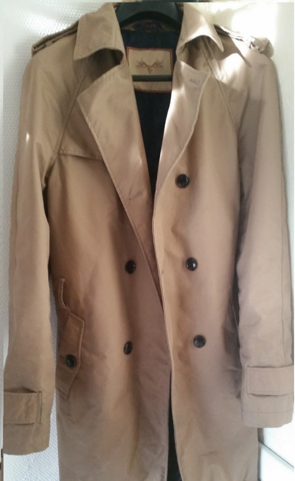 Trench Coat Imperméable Zara, Taille L, marron