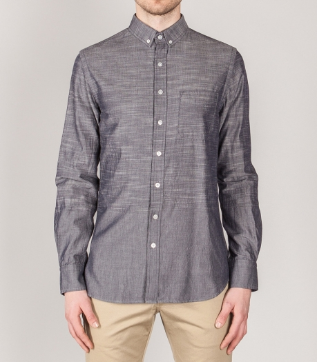 Chemise Wings + Horns Engineered Slub Chambray