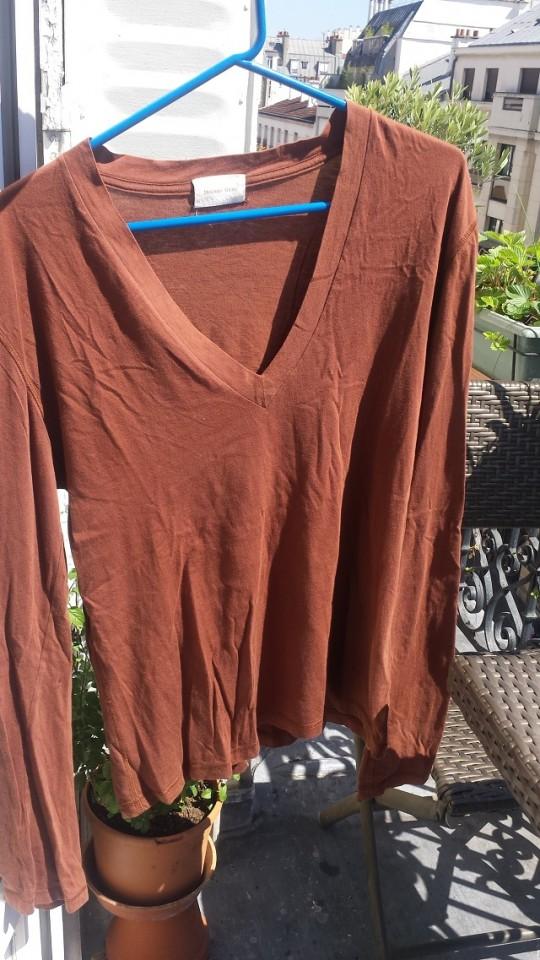 T-shirt manches longues col V Melinda Gloss