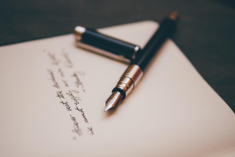 Papier stylo ecrire