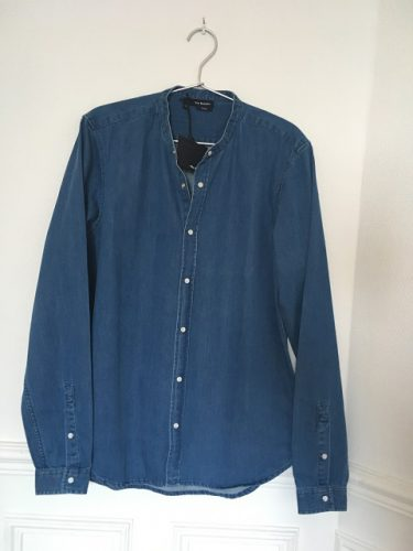 chemise jean col mao