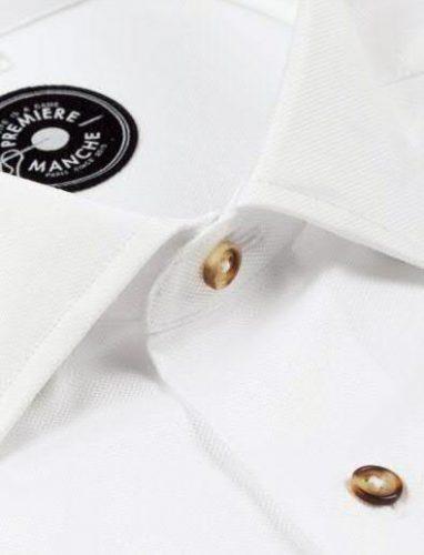 Chemise premiere manche blanc oxford 03