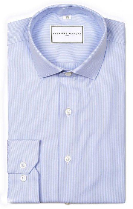 chemise-oxford-bleu-raye