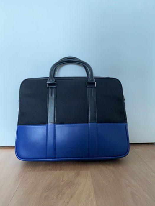 porte documents le tanneur noir bleu - 1